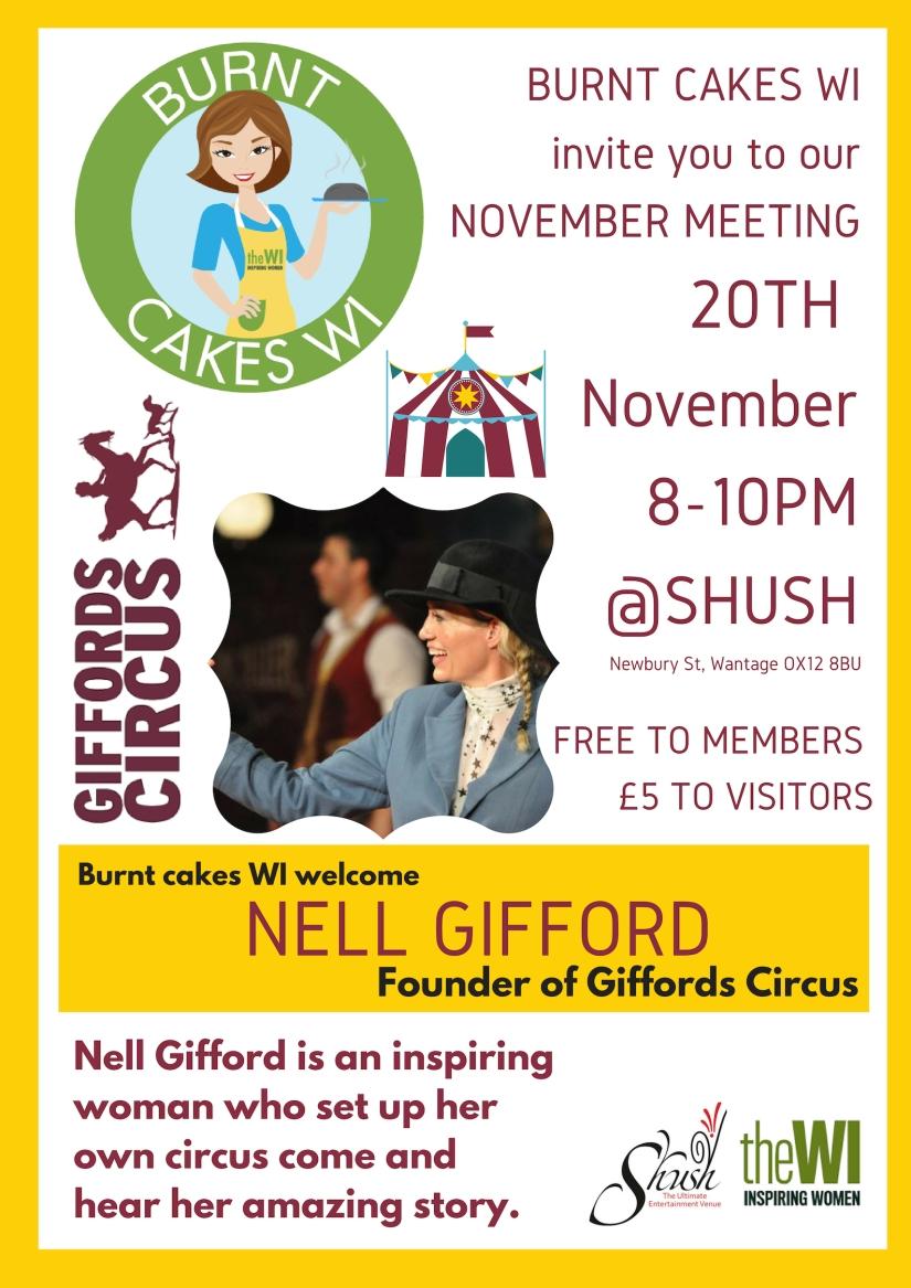 November MEETING poster