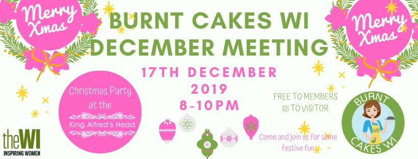 Burnt Cakes WI December Meeting