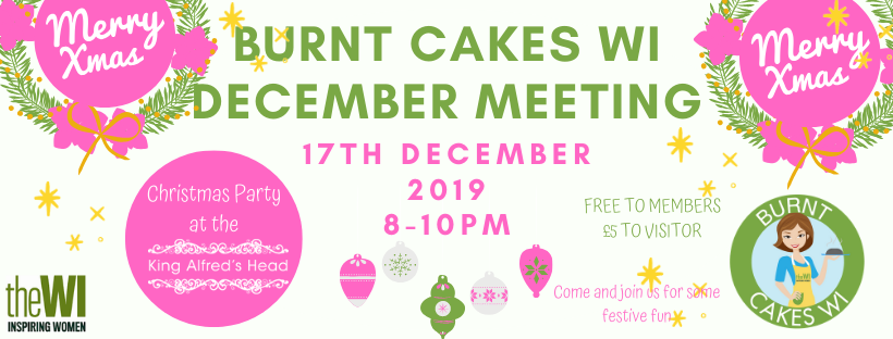 Burnt Cakes WI December Meeting